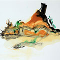 Termitenhügel 7, 34x48 cm
