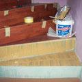 laminált lépcső