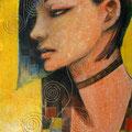 Gold/2012 Acrylics gouache木製パネル