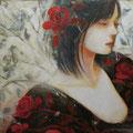 花咲くとき sold/2012 Acrylics gouache木製パネル