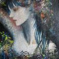 静かな場所 sold/2011 Acrylics gouache木製パネル