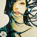 凛2012 Acrylics gouacheキャンバス