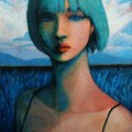 Green Dream sold/2010 Acrylics gouache木製パネル