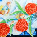 カレンダーガール(非買) 2014 Acrylics gouache F6キャンバス
