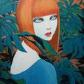 透明な視線sold/2011 Acrylics gouache木製パネル