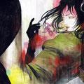 遊戯(非売)/Acrylics gouacheイラストボード