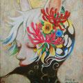 月うさぎ sold 2013 Acrylics gouacheキャンバスF0