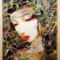 Brilliant 2014 ハツサイズ(標本箱型)Acryl gouashe,Cutting paper,Pastel