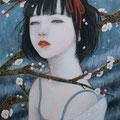 梅の花sold/2012 Acrylics gouacheキャンバス