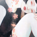 君の花 sold/2010 Acrylics gouache木製パネル