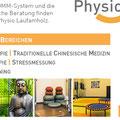 Werbeanzeige für die Physio Laufamholz