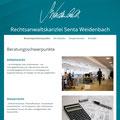 Internetauftritt der Rechtsanwältin Senta Weidenbach (www.kanzlei-weidenbach.de)