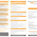 Klapp-Flyer (DinLang, 6-seitig, Außenseite) für die Physio Laufamholz