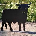 Kleiner Stier  Nr. 12 in Groß mit Gesicht: 1,20cm Höhe und ca. 1,30 Länge