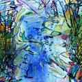 Unterwasserwelt, 30x21 cm, Wasserfarben auf Holz, 90 €