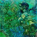Vegetabile Malerei, 58x58 cm, Öl auf Leinwand, 400 €
