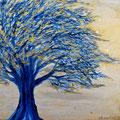 Der Blaue Baum, 30x30 cm, Acryl auf Leinwand (verkauft)