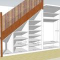 Projet d'aménagement sous escalier (Rambouillet 78)