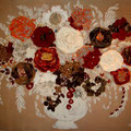 """ Bouquet Toulousain"" 120x80 gold"