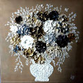 """Bouquet anglais""2 120x80 gold"