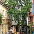 Der Schnoor mit seinen kleinen Gassen, eines der ältesten Viertel Bremens.