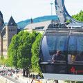 Rheinpromenade mit Gondel © Koblenz-Touristik / P!ELmedia