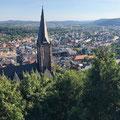 Blick auf Marburg vom Schloss