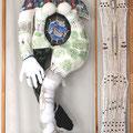 LA ROYAUTÉ AU FÉMININ. tissus, rem bourrage de polyester, technique mixte, vendu