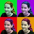 """Mädchen nach """"Andy Warhol"""""""