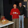 René Zumerli a reçu un prix spécial offert par Paul Imbert du restaurant '' Les Terrasses ''