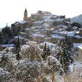 Le village sous la neige février. Photo Maria Ursini