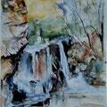 87 - Déversoir - aquarelle inspirée de A. Lowrey 40x30