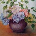 10 - Les hortensias - pastel 65x50