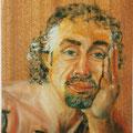 85 - Frédéric le penseur - huile sur bois 24x16