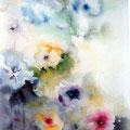 1 - Fleurs printanières - aquarelle 40x30