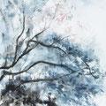27 - Arbre d'hiver - aquarelle 40x30