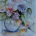 4 - Bouquet pastel - aquarelle 40x30