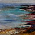 7 - Reflets méditerranéens - huile sur bois 20x44