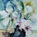 D 4 - Simple bouquet - aquarelle 40x30