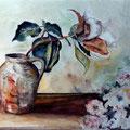 6 - Quelques fleurs - aquarelle 30x40