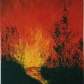 7 - Eruption nocturne - huile 35x27