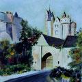 81 - Près du château de Montreuil.B huile 30x25