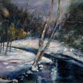 56 - Paysage d'hiver - huile inspirée de Roland Roycraft 24x30