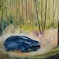 26 - Course forestière - huile 38x55