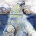 89 - Plaisir polaire - aquarelle 32x25
