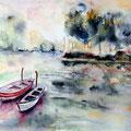 28 - Barques - aquarelle 30x37
