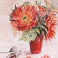 18 - Vase rouge - aquarelle 40x30