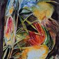 3 - Coeurs d'artichauts - aquarelle 40x30
