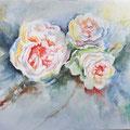 10 - 3 roses - aquarelle inspirée de JC Papeix