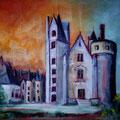 82 - Château fantastique - huile 25x30